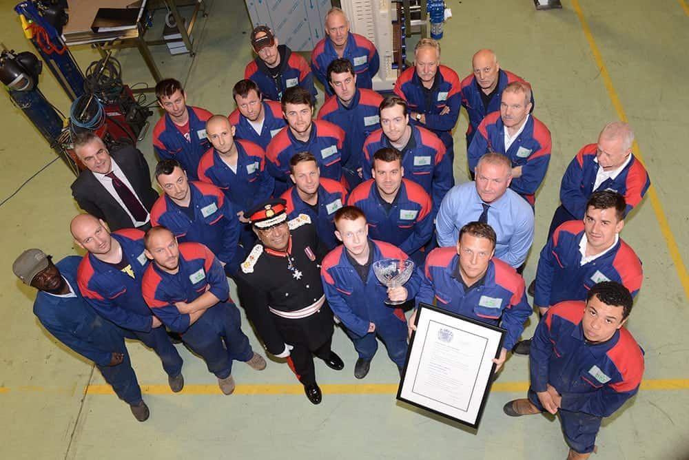 IWM Washing Machines   Presented with Queen's Award Scroll by Lord Lieutenant