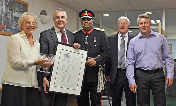 IWM is presented with the Queen's Award for Enterprise by Lord Lieutenant