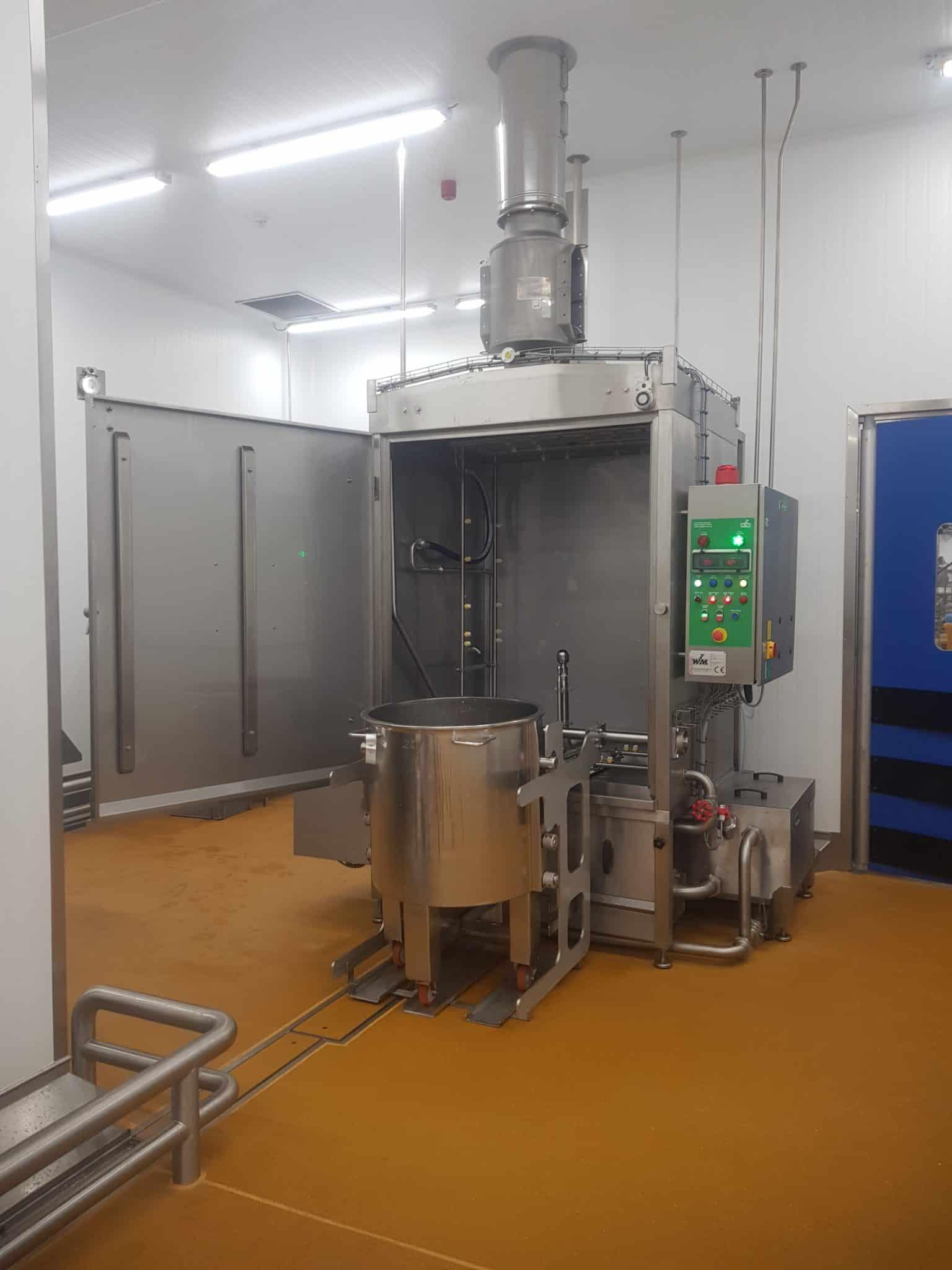 Leading Food Manufacturer Chooses IWM Cabinet Bin Washer